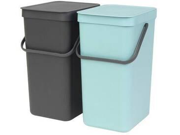 32 L Einbau-Mülleimer Sort & Go aus Kunststoff