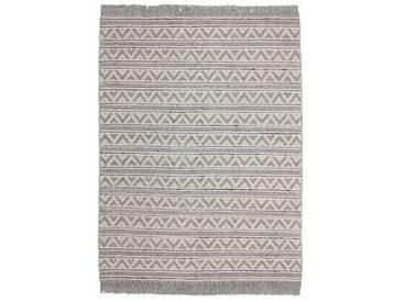 Handgefertigter Teppich Natura in Grau/Beige