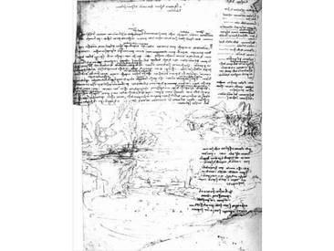 "Leinwandbild ""Fol.145v-a, Page from Da Vincis Notebook"" von Leonardo Da Vinci, Grafikdruck"