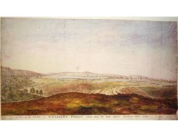Gerahmter Kunstdruck A View of the camp on Waterdown Forest 1780 von James the Younger Lambert