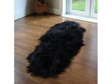 Teppich Toby aus Schaffell in Schwarz