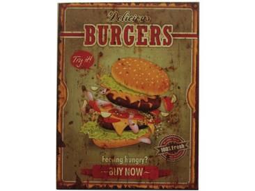 Holzbild Burgers