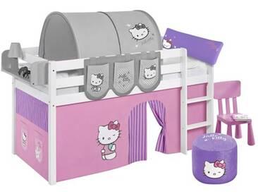 Hochbett Hello Kitty mit Hochbettvorhang, 90cm x 190cm