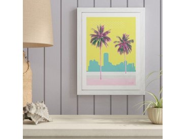 Gerahmtes Glasbild Scandic-Living - Palms On Beach