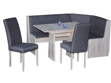 Eckbankgruppe Martha mit ausziehbarem Tisch, 2 Stühlen und einer Bank
