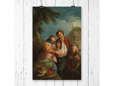 "Poster ""Fortune Teller"" von Charles-Andre van Loo, Kunstdruck"