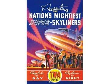 Gerahmtes Leinwandbild TWA Skyliners