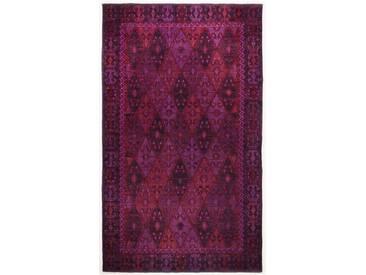 Handgefertigter Teppich Vintage aus Wolle in Purpur