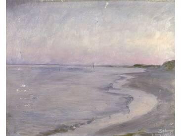 Leinwandbild A Coastal Scene, Kunstdruck von Peder Severin Kroyer