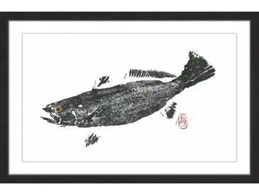 Gerahmtes Papierbild Speckled Trout von Andrew Clay