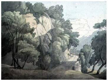 "Poster ""At the Head of Lake Geneva von John White Abbott, Kunstdruck"