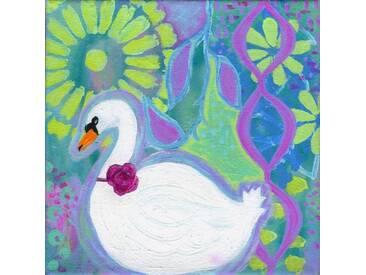 "Leinwandbild ""Swan 1"" von Jill Lambert, Kunstdruck"