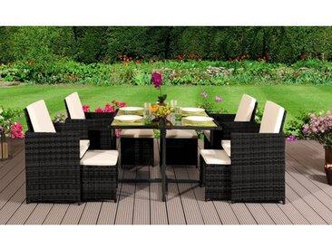 8-Sitzer Gartengarnitur Julianna mit Polster