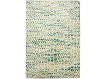 Handgefertigter Teppich Smooth Comfort aus Wolle in Grün