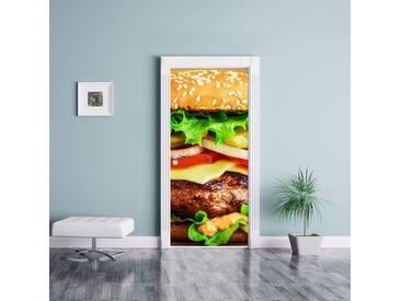 Türaufkleber Hamburger McDonalds Cheeseburger Burger Essen Fleisch