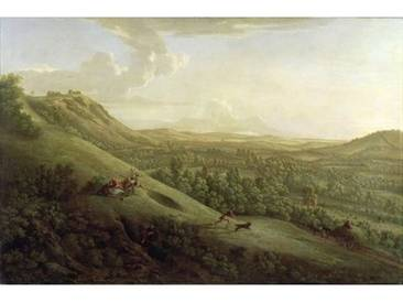 Wandbild A View of Boxhill, Surrey, with Dorking in the Distance, 1733 von George Lambert