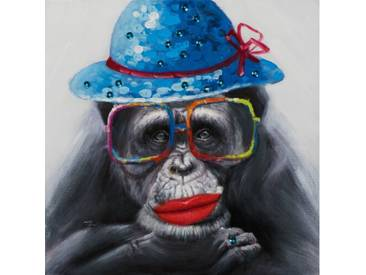 Leinwandbild Monkey with Hat