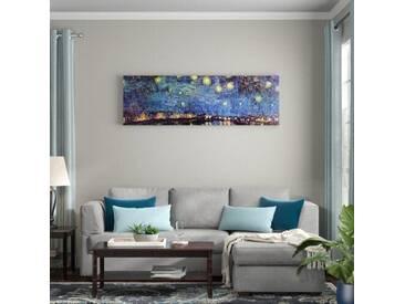 """Gerahmtes Leinwandbild """"Alte Meister Sternennacht über der Rhône"""" von Vincent van Gogh, Kunstdruck"""