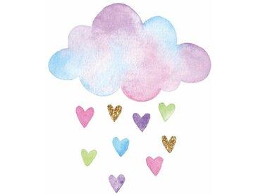 Wandaufkleber Wolke und Herzen