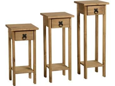 3-tlg. Säulentisch-Set Classic Corona