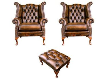 Sessel Chesterfield mit Hocker