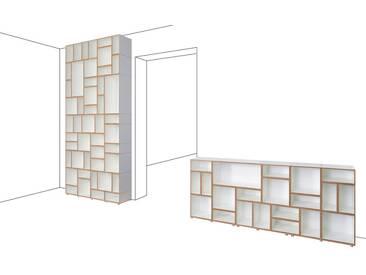 Modulares Designer Regalsystem, weiß, MDF, 440x36x306cm, stocubo