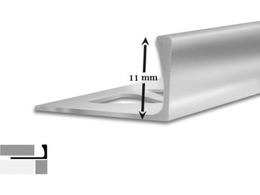 5 Fliesenprofile | L-Form | 11 mm hoch | 2,5 m lang