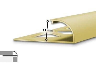 5 x Fliesenprofil | C-Form | 11 mm hoch | 2,5 m lang