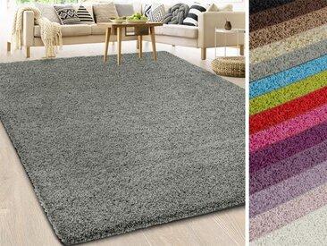 Hochflorteppich grau | Shaggy-Teppich | viele Größen