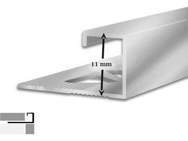 5 Fliesenschienen | G-Form | 11 mm hoch | 2,5 m lang