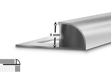 5er-Set Fliesenprofile | D-Form | 8 mm hoch | 2,5 m lang
