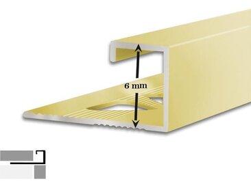 Fliesenprofil 5er-Set | G-Form | 6 mm hoch | 2,5 m lang
