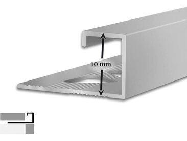 5 Fliesenprofile | G-Form | 10 mm hoch | 2,5 m lang