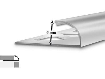 Fliesenprofil Aluminium | 5 Stück | 2,5 m lang | 6 mm hoch |