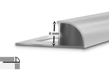5 x D-Form Fliesenabschlussprofil | 2,5 m lang | 6 mm hoch