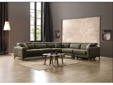 luxus sofa krefeld in stoff mit chesterfield optik und recliner