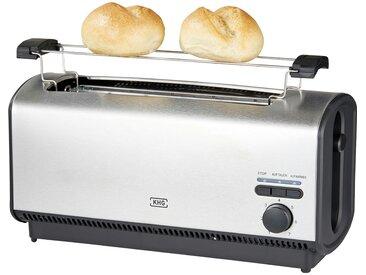 KHG Toaster  TO-1200VS (E) - silber - Metall, Kunststoff - 36,6 cm - 18,4 cm - 16,5 cm - Sconto