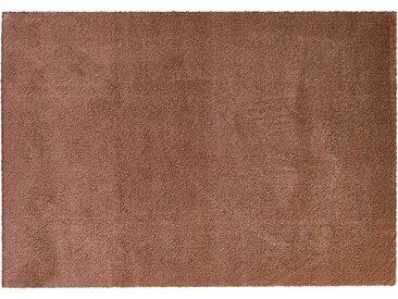 Hochfloorteppich  Soft Shaggy - kupfer - Mikrofaser, Synthethische Fasern - 140 cm - Sconto
