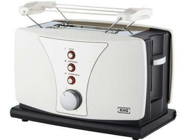 KHG Toaster  TO-802WS - weiß - Kunststoff, Metall - 27 cm - 18,5 cm - 16,5 cm - Sconto