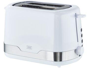 KHG Toaster - weiß - Kunststoff, Edelstahl, Metall - 30 cm - 18 cm - 16,5 cm - Sconto