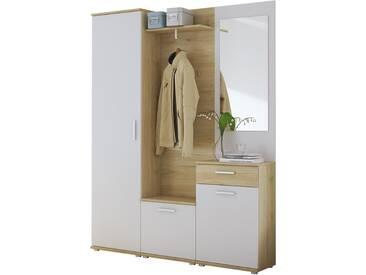 Kompaktgarderobe  Melle - weiß - 150 cm - 190 cm - 29 cm - Sconto