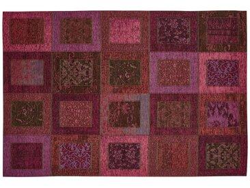 Kurzflorteppich - lila/violett - Synthethische Fasern, 34% Polyacryl Chenille, 33% Baumwolle, 33% Polyester - 80 cm - Sconto