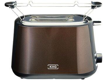 KHG Toaster  TO-806 (MMS) - braun - Kunststoff - 28,1 cm - 17,6 cm - 17,6 cm - Sconto