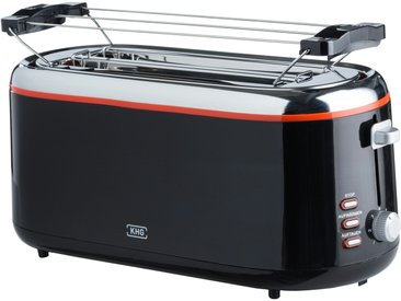 KHG Langschlitz-Toaster  TO-1301LSS - schwarz - Metall, Kunststoff - 41 cm - 18,8 cm - 18,2 cm - Sconto