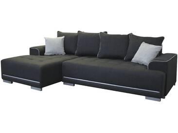 Ecksofa - schwarz - 150 cm - 80 cm - 252 cm - Sconto