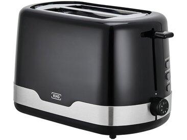KHG Toaster - schwarz - Kunststoff, Edelstahl, Metall - 30 cm - 18 cm - 16,5 cm - Sconto