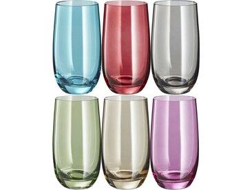LEONARDO Gläser groß, 6er-Set  Sora - mehrfarbig - Glas - 23,4 cm - 14 cm - 15,6 cm - Sconto