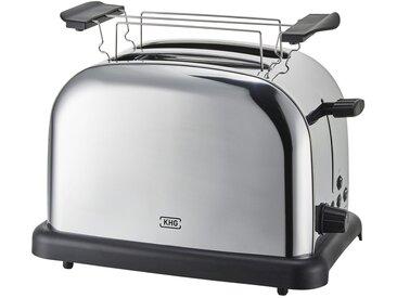 KHG Toaster Edelstahl  TO-1005 (ES) - silber - Edelstahl, Kunststoff - 30 cm - 20 cm - 18,3 cm - Sconto
