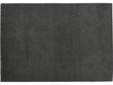 Hochfloorteppich  Soft Shaggy - grau - Mikrofaser, Synthethische Fasern - 140 cm - Sconto