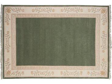 Nepal-Teppich  Classica - grün - 80% Neuseelandwolle, 20% Hochlandwolle, Wolle - 170 cm - Sconto